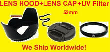 LENS HOOD+UV+CAP 52mm TO PANASONIC LX3 Leica D-LUX4 (Adapter Not Included )