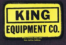 LMH PATCH Badge  KING EQUIPMENT Co.  Heavy Tractor Loader Dozer  1980s Logo