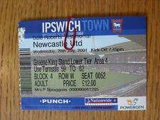 Ipswich Town V 28/07/2004 ticket: Newcastle United [Dale Roberts testimonios]