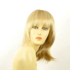 Perruque femme mi-longue blond doré méché blond très clair  BABETTE 24BT613
