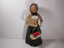 Byers Choice 1992 Red-Headed Woman with Crate of Apples