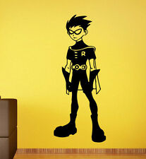 Teen Titans Wall Decal Robin Vinyl Stickers Superhero Wall Art Mural Decor 1tns