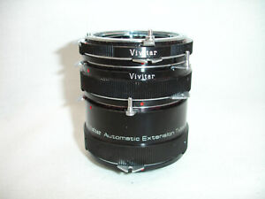 VIVITAR Extension Tube Set AT-3 36mm, 20mm, 12mm for NIKON F mount ( non AI )