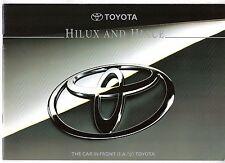 Toyota Hiace & Hilux 1994-95 UK Market Sales Brochure Compact LWB 4WD