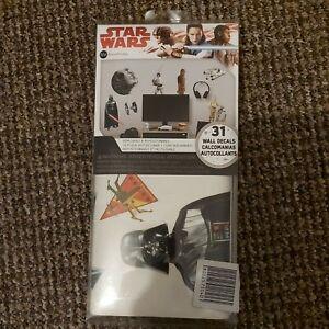 Star Wars Wall Decals Sticker Kit Disney Peel and Stick Wall Art