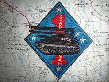 Vietnam War Patch USMC 1st Marine Division GUADACANAL Tank Unit