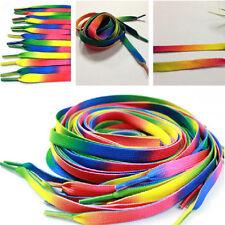 Top Sale 5Pairs Rainbow Athletic Shoelace Unisex Sneaker Shoe Lace String Strap