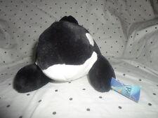 "Sea World Adventure Parks Orca Killer Whale 14"" Plush Soft Toy Stuffed Animal"