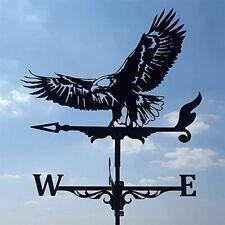 More details for owl/eagle weather vane stainless steel weather vane yard barn scene garden decor