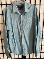 Banana Republic Soft Wash Slim Fit Mens Large Long Sleeve Button Front Shirt