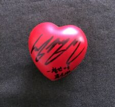 hand signed TVXQ 東方神起 Changmin MAX 昌珉 autographed concert ball heart ball 0219