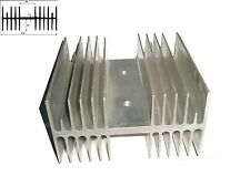 Dissipatore in alluminio per elettronica  125x70x130 mm preforato 4 fori filett.