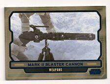2013 TOPPS STAR WARS GALACTIC FILES 2 BLUE #628 MARK II BLASTER CANNON #190/350