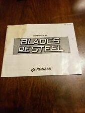 BLADES OF STEEL - NES - GAME MANUAL ONLY - FREE S/H -