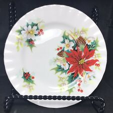 Royal Albert English China Christmas Poinsettia Bread & Butter Plate Yuletide
