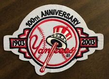 "New York Yankees MLB Patch/100th Anniversary 1903-2003 SewOn IronOn 5""x 3.5""inch"