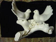 Porzellan  zwei weise Tauben gut erhalten