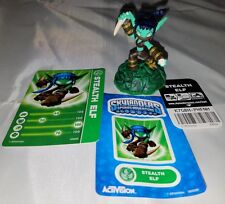 2011 Activision Skylanders  STEALTH ELF  Figure Loose w Cards and Stickers