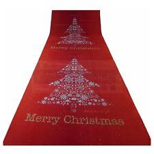 Tapis rouge arbre de Noël coureur H.1 mt R8