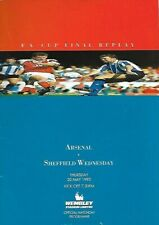 More details for  arsenal v sheffield wednesday 1993 fa cup final replay