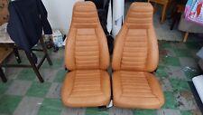 PORSCHE 911 912 SEAT KIT 75- NEW UPHOLSTERY CORK GERMAN VINYL LATE 1970'S ERA