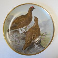 """Collector Plate 1978 GAME BIRDS OF THE WORLD Red Grouse Basil Ede 9"""" France"""