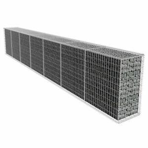 vidaXL Gabion Wall with Cover 600x50x100cm Basket Welded Mesh Rock-Stone Wall