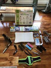 Nintendo Wii RVL-001 Console & Wii Fit Plus Board & Zumba Dance Games