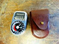 Vintage Weston Master III Exposure Light Meter Model 737 & Original Leather Case