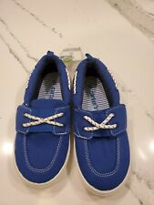Carter's - Boys Blue Canvas Loafers / Boat Shoes - Cosmo 3 - Size 13 - NEW