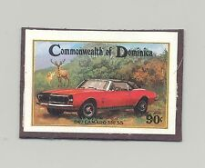 Dominica #814 Automobiles, Camaro, Deer 1v Imperf Proof Mounted on Card
