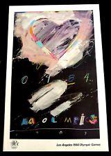 "Raymond Saunders 1984 Los Angeles Olympic Poster 24"" x 36"" ORIGINAL  ""HEART"""