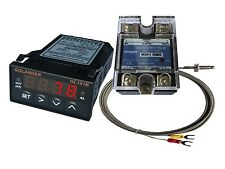 12V DC 1/32DIN PID Temperature Controller, Red+ 25A SSR + K thermocouple