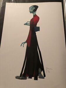 Star Wars Production Concept Art Print  Lucasfilm Creature Maz Kanata Design