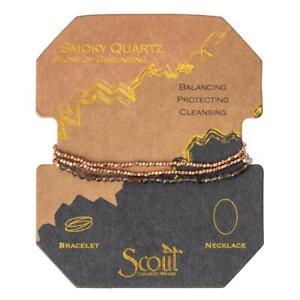 Scout Delicate SMOKY QUARTZ Stone of Grounding BRACELET or NECKLACE Jewelry Wrap