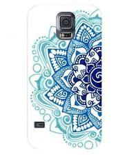 Coque Galaxy S5 Mandala 2 Aztec ethnique Fleur Bleu doodling