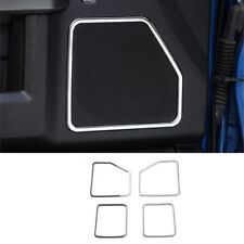 Chrome ABS Interior Car Door Speaker Cover Trim For Ford F150 F-150 2015-2018