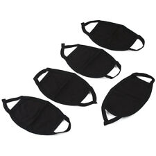 5Pcs Unisex Black Health Cycling Anti-Dust Cotton Mouth Face Respirator Mask