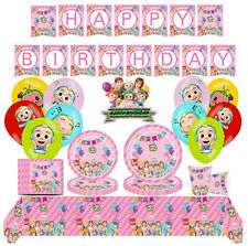 Pink Cocomelon Birthday Party Scene Setter Cups Plate Napkin Balloons Tablecloth