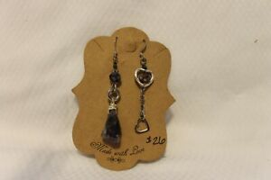 Handmade Dangling Silver Amethyst Earrings