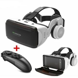 VR Glass Box 3D Virtual Reality Glass For SmartPhone With Headphone and Gamepad
