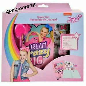 JOJO SIWA Dream Crazy Big Diary with Pen, Stamper and 2 Sticker Sheets