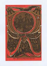 Bill Graham 77 Postcard Moby Grape Steve Miller Blues 1967 Aug 13