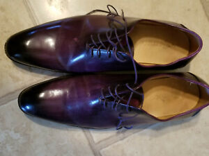 Details about  /Handmade Men/'s Leather Purple Stylish Oxford Formal Fashion Dress Shoes-663
