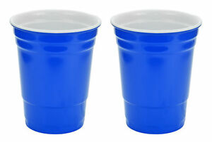 Blue Hard Plastic Cup 16oz - 2 Pack           Blue