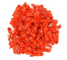 100 Pack Red Quick Splice Wire Tap Connector Adapter 22-18 Gauge AWG