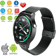 Round Touch Screen Bluetooth Smart Watch Clock For Android Samsung iphone Huawei