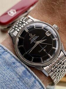 Omega Constellation Steel Pie Pan Black Dial Vintage Mens Automatic 1966 watch