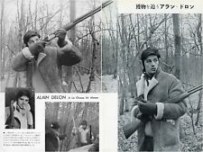 ALAIN DELON A La Chasse En Alsace 1962 Japan Picture Clippings 2-Pages #EC/U