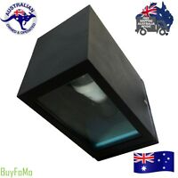 Modern External Up or Down Black Outdoor Wall Sconce Lights - LED Compatible